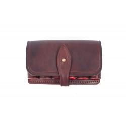 J1 Cartridge pouch genuine leather 12 ga. Brown VlaMiTex