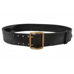 G1 Cinturón 100% de piel, de 5 cm de ancho, negro, VlaMiTex