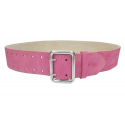 G2 Cinturón de piel de 5 cm de ancho pink VlaMiTex