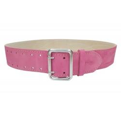 G2 Gürtel verstärkt 5 cm Leder Pink