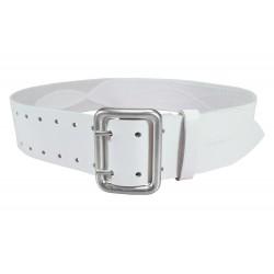 G3 Gürtel verstärkt 5 cm Leder Weiß