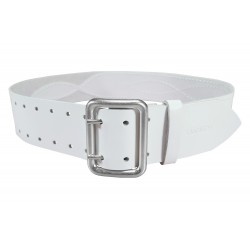 G3 Leather belt 5 cm wide white VlaMiTex