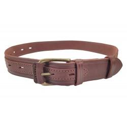 G6 Cinturón de piel 4 cm rojo una espina de color marrón VlaMiTex