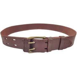 G7 Belt genuine leather 4 cm wide Red/Brown